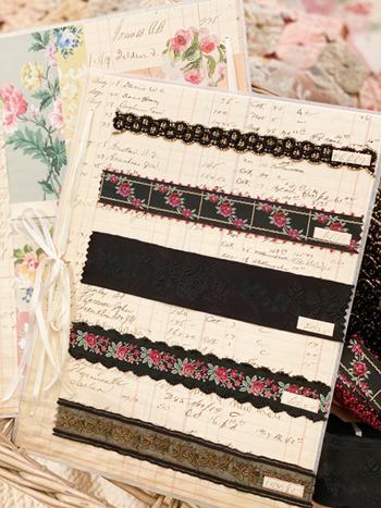 Stunning Black Vintage Ribbon Card