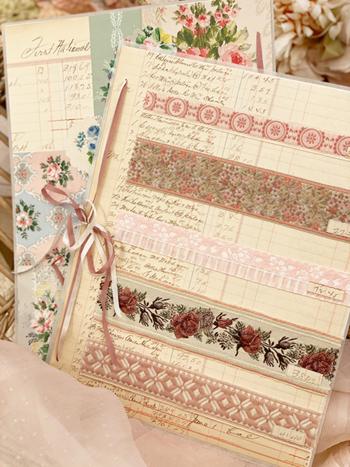 Dusty Rose Vintage Ribbon Card