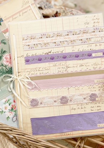 Passionate Purple Vintage Ribbon Card